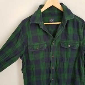 Faded Glory Plaid Button Up